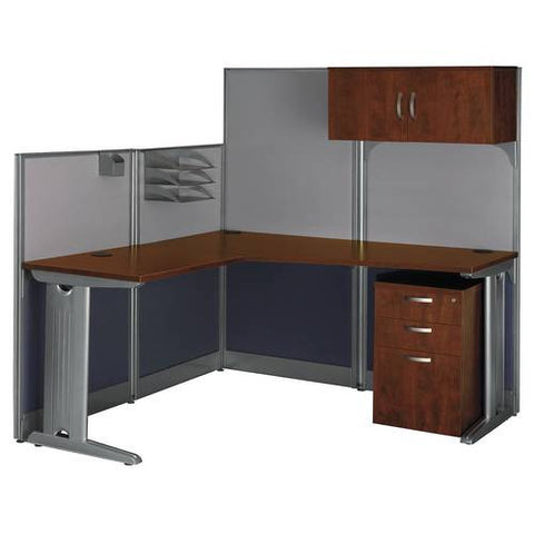 "Office-in-an-Hour, ""L"" Workstation with Storage"