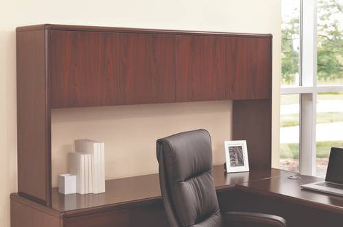 Aspenhome Warm Cherry Executive Modular Home Office: HON®, 10700 Laminate Collection, Hutch With Tackboard, 69