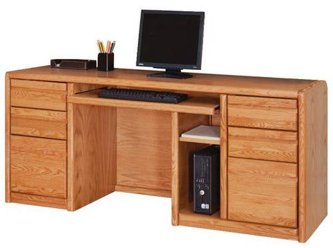 Hand Crafted Genuine Oak Wood Keyboard Credenza