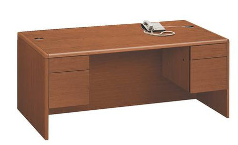 "HON®, 10700 Laminate Collection, Double Pedestal Desk, 60"" x 30"""
