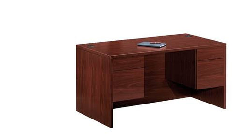 "The 10500 Laminate Collection, Double Pedestal Desk, 60"" x 30"""