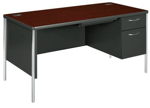 "Mentor®, Series Teacher's Single Right Pedestal Desk, 60"" x 30"""
