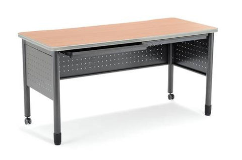 "Mesa Series Mobile Training Table with Drawers, 56"" W x 28"" D x 29"" H"