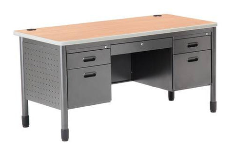 "Mesa Series Double Pedestal Desk, 60"" W"
