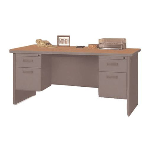 "Marvel Pronto™ 72"" Double Pedestal Desk"