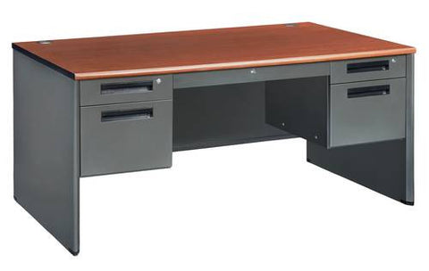 "Executive Panel End Double Pedestal Desk, 60"" Wide"