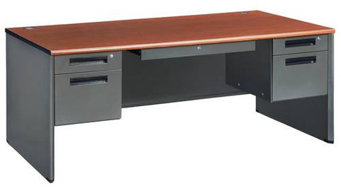 "Executive Panel End Double Pedestal Desk, 72"" Wide"