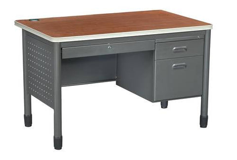 "Mesa Series Single Pedestal Desk, 48"" W"