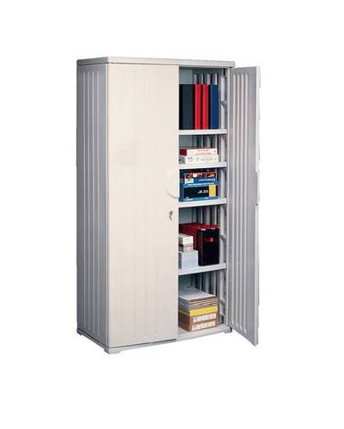 "Impact-Resistant Contemporary Storage Cabinet, 36"" W x 22"" D x 72"" H"
