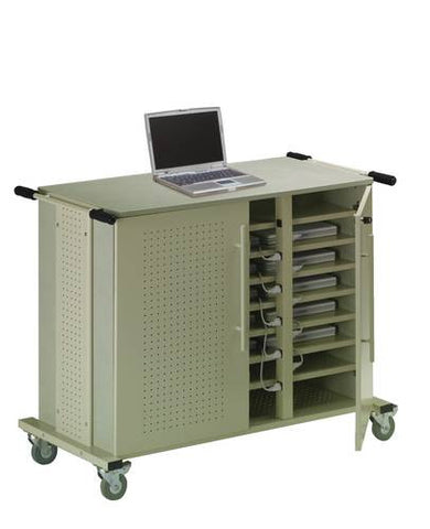 24-Laptop Steel Charging Cart
