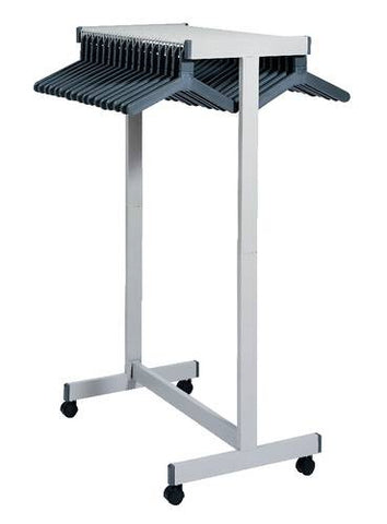 "3-Way Steel Hat And Coat Rack with Casters, 60"" High"