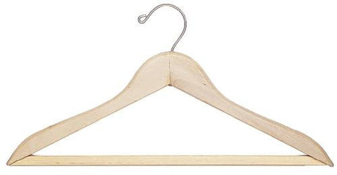 Wood Open Hook Hangers, 100 Per Box