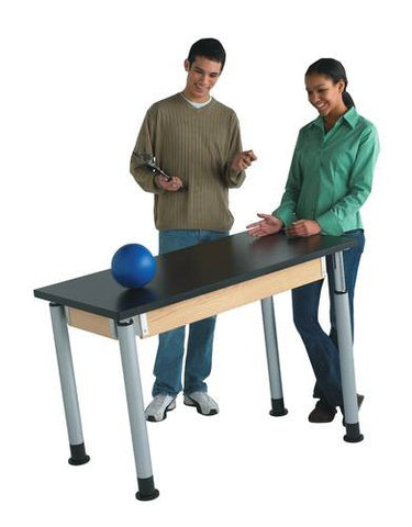 "Adjustable Height Table, 24"" x 60"", ChemGuard Top"