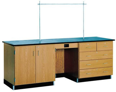 "Instructor's Desk with Flat Top, 96"" W x 30"" D x 36"" H"
