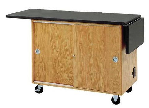 "Extra Wide Lab Table, Flat Top with Rod Sockets, 42"" W x 24"" D x 36"" H, 72"" Wide Extended"