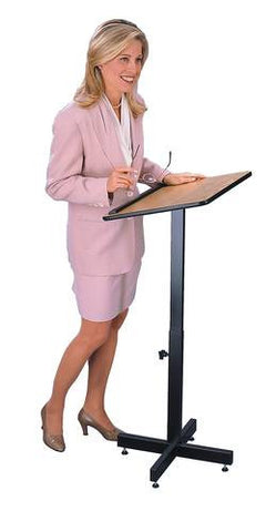 Adjustable Height Portable Lectern, Laminate Top
