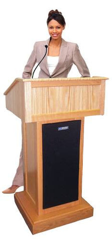 Solid Wood Wired Sound Floor Lectern