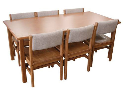 "Solid Wood Rectangular Table, 60"" x 36"""