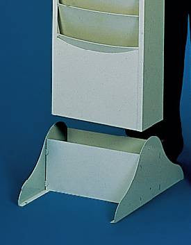Leg Base for Wall-Mounted Literature Racks
