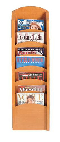 "7-Pocket Magazine Rack, 11"" W X 37-1/2"" H"