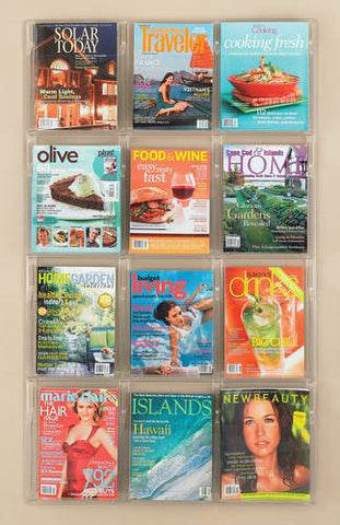Deluxe Clear Display 12-Pocket Magazine Rack