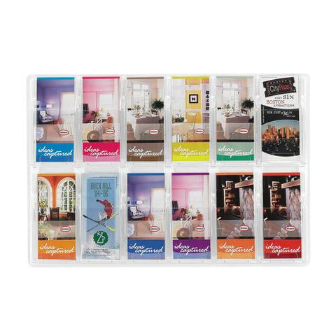 Deluxe Clear Display 12-Pocket Pamphlet Rack