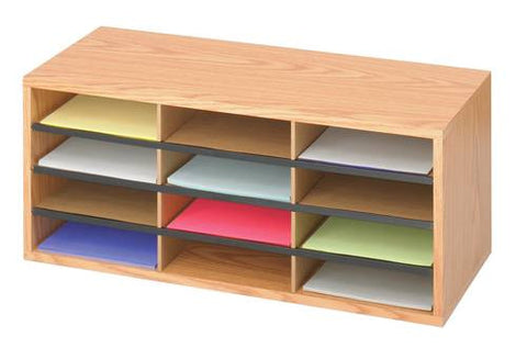 12-Compartment Literature Organizer