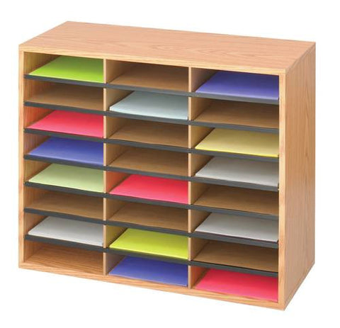 24-Compartment Literature Organizer