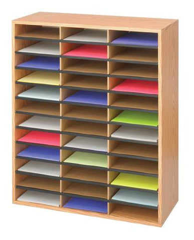 36-Compartment Literature Organizer