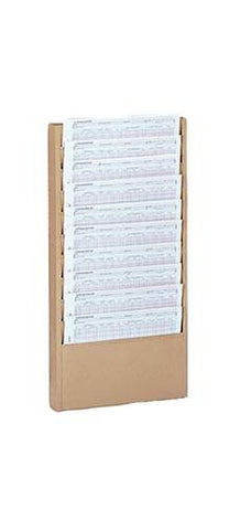 "Wall-Mounted Literature Rack, 10 Pockets, 13-1/4"" W x 1-15/16"" D x 26-1/4"" H"