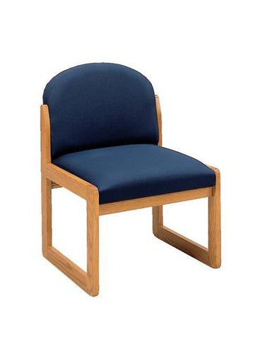 Contemporary Solid Oak Reception Chair, Standard Fabric
