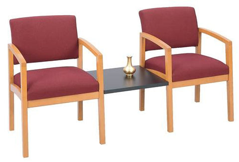 The Lenox Collection, 2 Chairs with Center Table, Standard Fabric