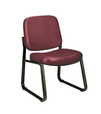 Fernbrook Sled Base Armless Chair, Vinyl Upholstery