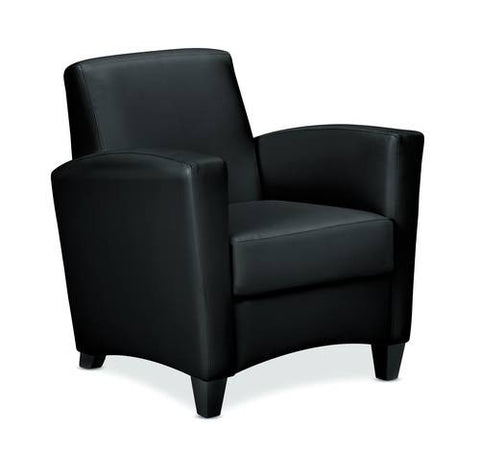 Invitation® Series Arm Chair, Leather Upholstery
