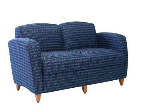 Comfort Plus Lounge Seating, 2-Seat Lounge without Center Arms, Grade 1 Fabric