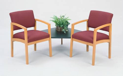 The Lenox Collection, 2 Chairs with Corner Table, Standard Fabric