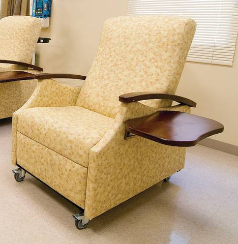 Miller Collection Patient Sleeper Chair With Folding Side Tray, Healthcare  Vinyl