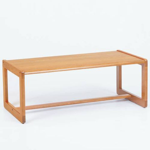 Contemporary Solid Oak Coffee Table