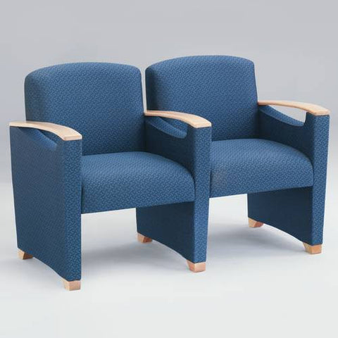 Somerset Collection 2-Seat Settee with Arms, Woven Crypton Upholstery