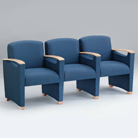 Somerset Collection 3-Seat with Arms, Healthcare Vinyl Upholstery
