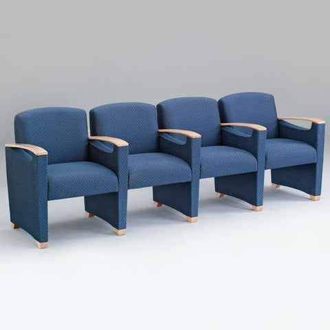 Somerset Collection 4-Seat Sofa with Arms, Fabric Upholstery
