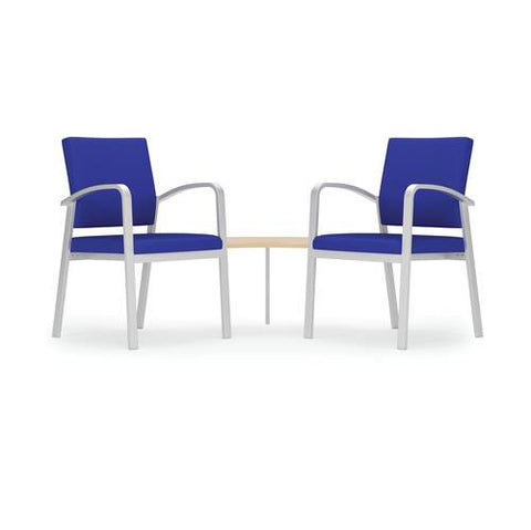 Newport Series 2 Chairs with Corner Connecting Table, Healthcare Vinyl Upholstery