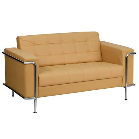 Lesley Series Contemporary Leather Love Seat