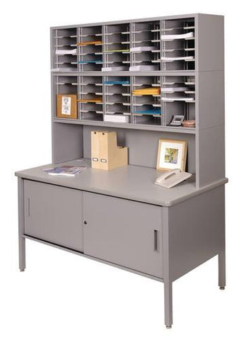 Marvel Mailroom Furniture, 50-Pocket Configuration with Single Table