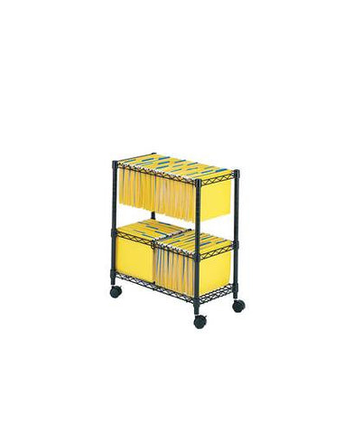 2-Tier Rolling File Cart