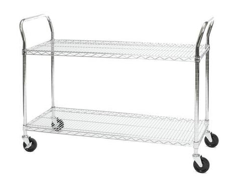 "Heavy-Duty Mobile Cart, 18"" x 48"""