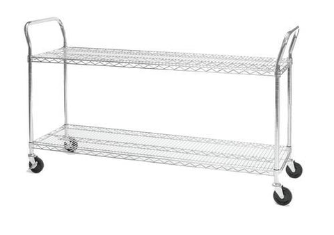 "Heavy-Duty Mobile Cart, 18"" x 60"""