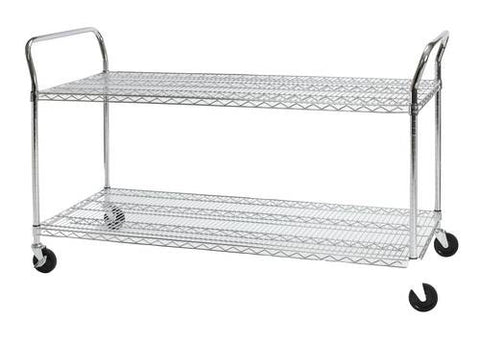 "Heavy-Duty Mobile Cart, 24"" x 60"""