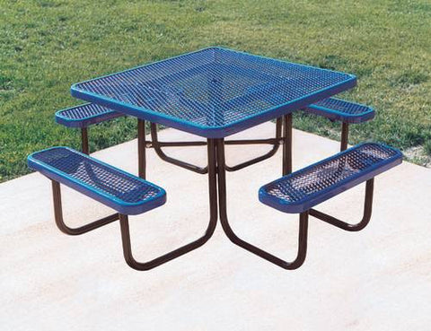 "Heavy-Duty Steel Picnic Table, 46"" Square"