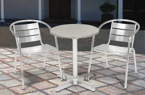 "Shown is Model 412203 32"" Round table with 2 each Model 412200 chairs.  Model 412206 is 24"" Square table."